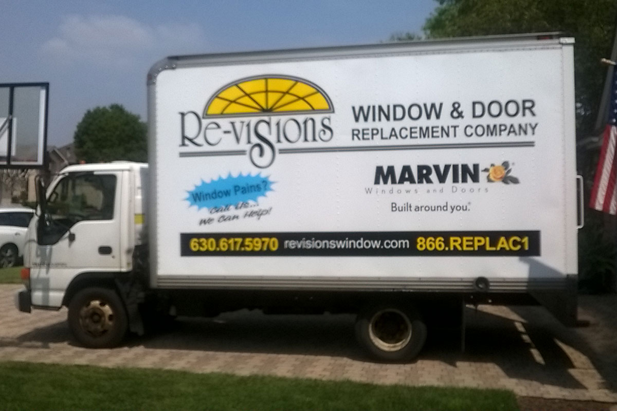 window & door installers truck